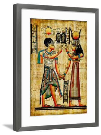 Ancient Egyptian Papyrus-Maugli-l-Framed Art Print