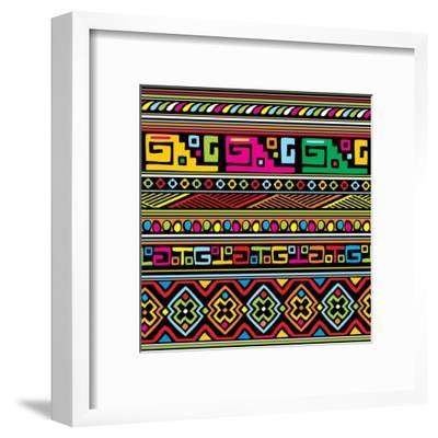 African Pattern Color- valeriya-Framed Art Print