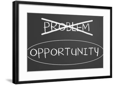 Problems Opportunity Concept-IJdema-Framed Art Print