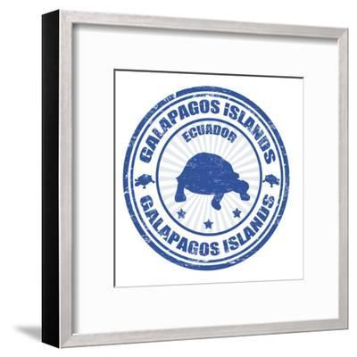 Galapagos Islands Stamp-radubalint-Framed Art Print