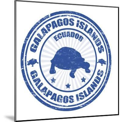 Galapagos Islands Stamp-radubalint-Mounted Art Print