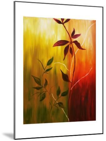 Oil Painting Of Fall Leaves-Acik-Mounted Art Print