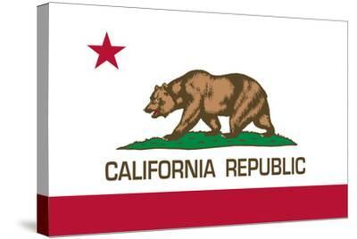 California State Flag-Bruce stanfield-Stretched Canvas Print