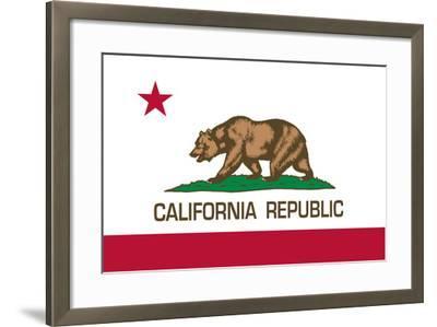 California State Flag-Bruce stanfield-Framed Art Print