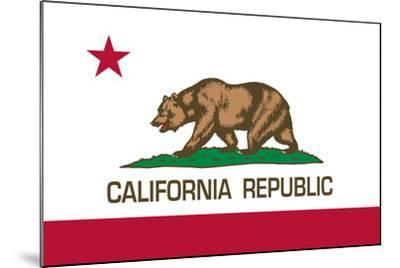 California State Flag-Bruce stanfield-Mounted Art Print