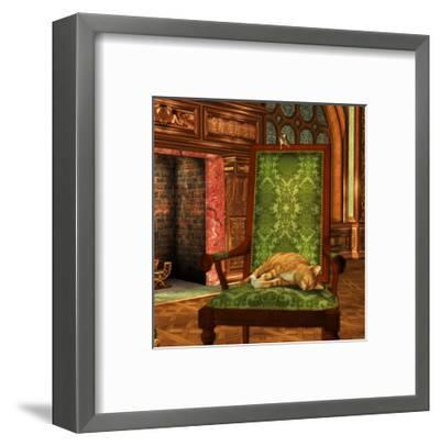 Cat And Mouse At Home-Atelier Sommerland-Framed Art Print