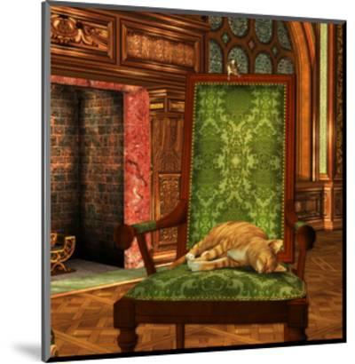 Cat And Mouse At Home-Atelier Sommerland-Mounted Art Print