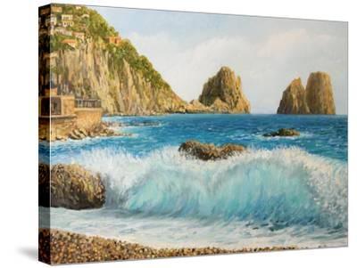 Faraglioni On Island Capri-kirilstanchev-Stretched Canvas Print