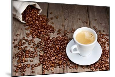 Coffee Cup With Beans-Valengilda-Mounted Art Print