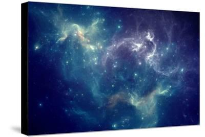 Colorful Space Nebula-pitris-Stretched Canvas Print