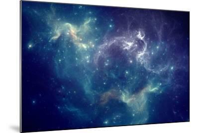 Colorful Space Nebula-pitris-Mounted Art Print