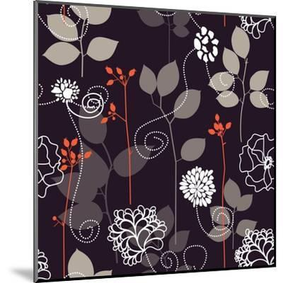 Floral Seamless Background-Danussa-Mounted Art Print