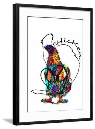 Funky Chicken Illustration- onesmallsquare-Framed Art Print
