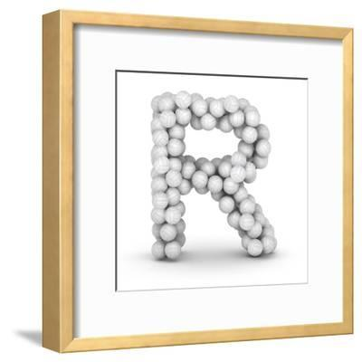 Letter R, From Voleyballs-iunewind-Framed Art Print