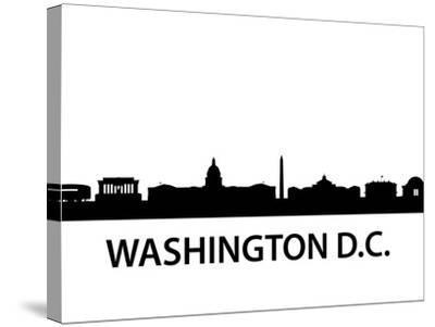 Skyline Washington D.C-unkreatives-Stretched Canvas Print