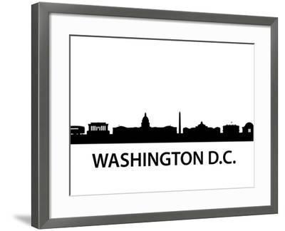 Skyline Washington D.C-unkreatives-Framed Art Print