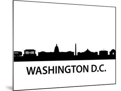 Skyline Washington D.C-unkreatives-Mounted Art Print