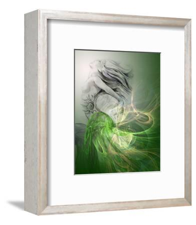 Painting Of A Mermaid-outsiderzone-Framed Premium Giclee Print
