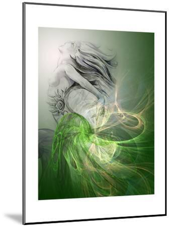 Painting Of A Mermaid-outsiderzone-Mounted Premium Giclee Print