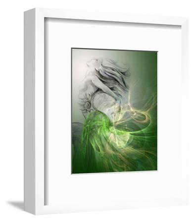 Painting Of A Mermaid-outsiderzone-Framed Art Print