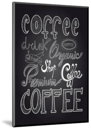 Coffee Chalkboard Illustration-cienpies-Mounted Premium Giclee Print