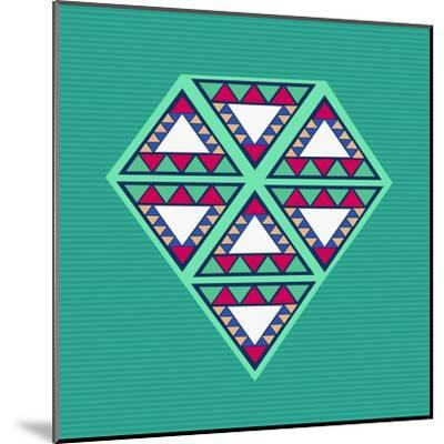 Geometric Diamond Composition-cienpies-Mounted Art Print