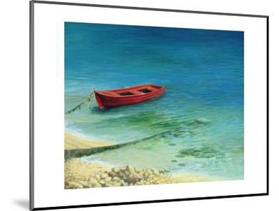 Fishing Boat In Island Corfu-kirilstanchev-Mounted Art Print