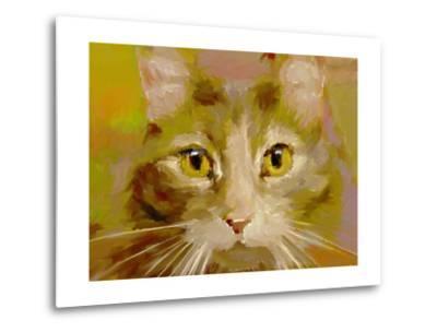 Orange Cat - Digital Oil Painting-anatomyofrockthe-Metal Print