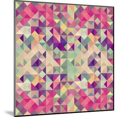 Pink Geometric Pattern-cienpies-Mounted Art Print