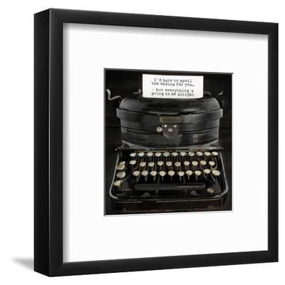 Old Antique Typewriter With Text-Anna-Mari West-Framed Art Print