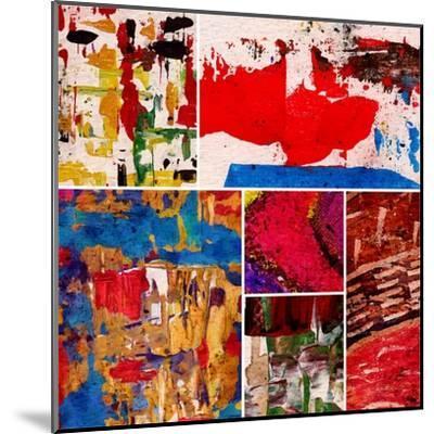 Abstract Painting, Digital Collage-Andriy Zholudyev-Mounted Art Print