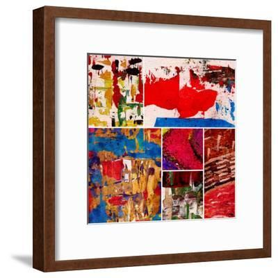 Abstract Painting, Digital Collage-Andriy Zholudyev-Framed Art Print
