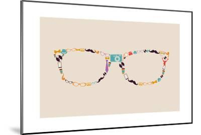 Vintage Hipster Icon Glasses-cienpies-Mounted Art Print