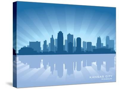 Kansas City, Missouri Skyline-Yurkaimmortal-Stretched Canvas Print