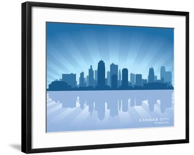 Kansas City, Missouri Skyline-Yurkaimmortal-Framed Art Print