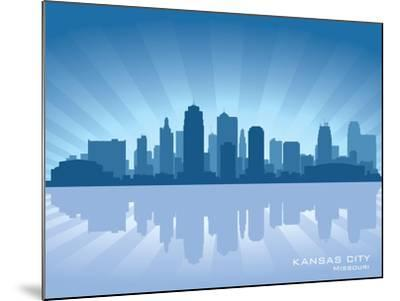 Kansas City, Missouri Skyline-Yurkaimmortal-Mounted Art Print