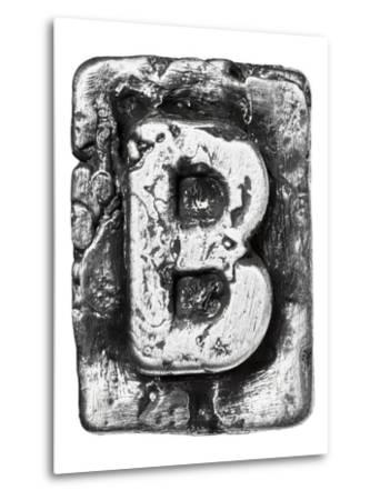 Metal Alloy Alphabet Letter B-donatas1205-Metal Print