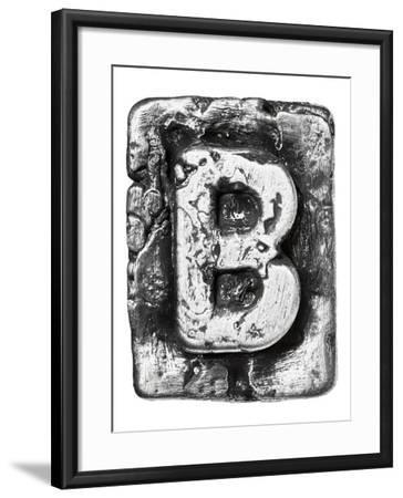 Metal Alloy Alphabet Letter B-donatas1205-Framed Art Print