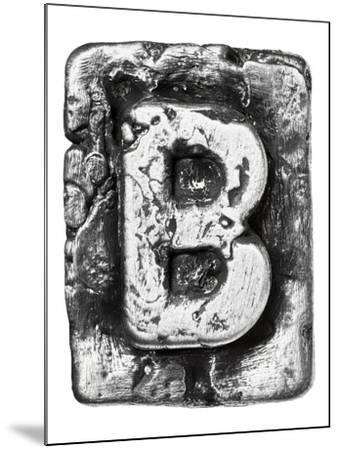 Metal Alloy Alphabet Letter B-donatas1205-Mounted Art Print