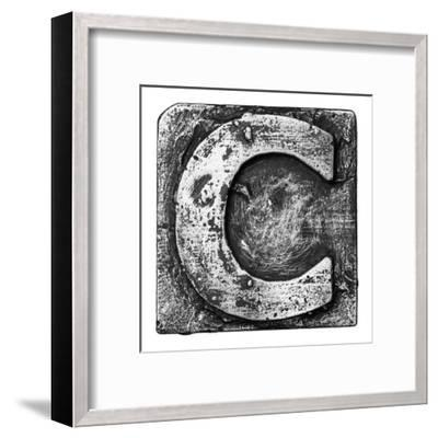 Metal Alloy Alphabet Letter C-donatas1205-Framed Art Print