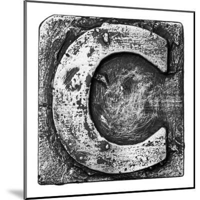 Metal Alloy Alphabet Letter C-donatas1205-Mounted Art Print