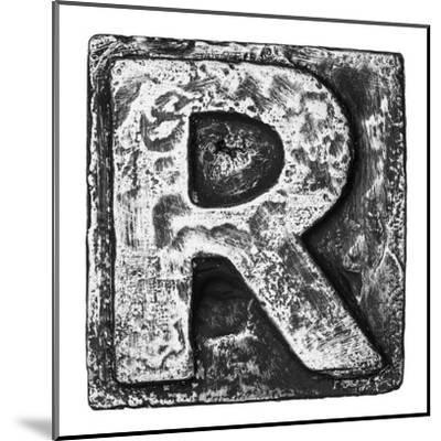 Metal Alloy Alphabet Letter R-donatas1205-Mounted Art Print