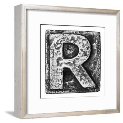 Metal Alloy Alphabet Letter R-donatas1205-Framed Art Print