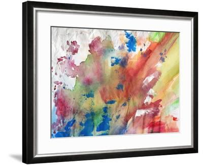 Abstract Painting Background-run4it-Framed Art Print