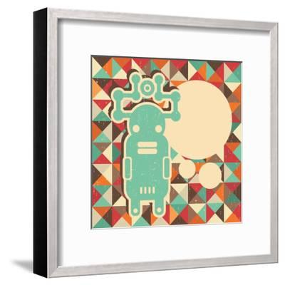 Funny Monster With Space For Text-panova-Framed Art Print