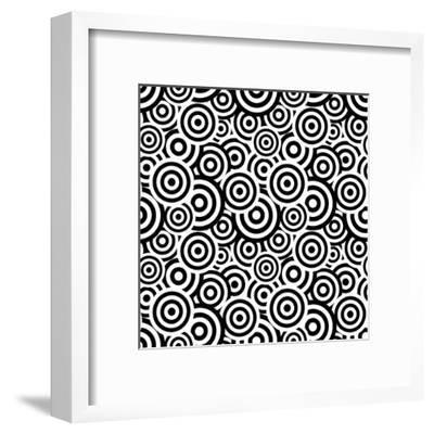 Seamless Retro Pattern- ihor_seamless-Framed Art Print
