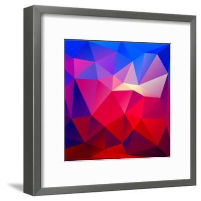 Bright Geometric Background- Bellenixe-Framed Art Print