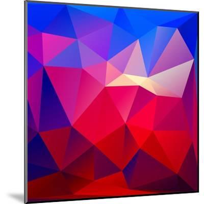 Bright Geometric Background- Bellenixe-Mounted Art Print
