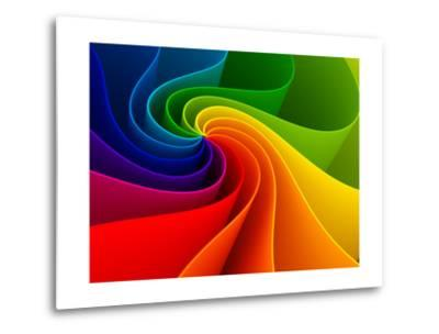3D Colorful Background-Sashkin-Metal Print