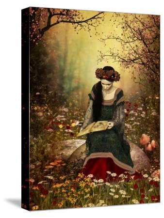 A Woman Reading A Book-Atelier Sommerland-Stretched Canvas Print